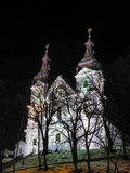 Lviv old white church Royalty Free Stock Images