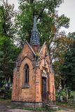 Lviv city center. Lviv is one of the most touristy cities of Ukraine. The Lychakiv graveyard attracts tourists with its architecture and monumental sculptures Royalty Free Stock Image
