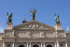 Lviv Opera e teatro de bailado Fotografia de Stock Royalty Free