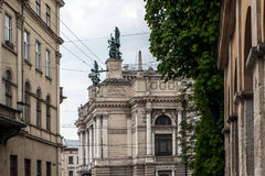 Lviv opera house architecture Royalty Free Stock Photography