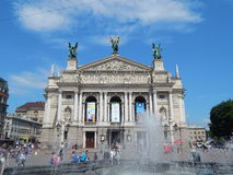 Lviv opera house. Stock Photo