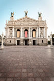 Lviv Opera Theatre Stock Photos