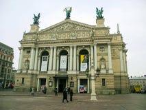 Lviv operahus Royaltyfria Foton