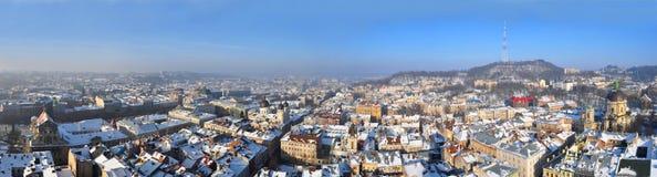 lviv panorama Obrazy Stock