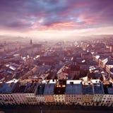 lviv panorama Royaltyfri Bild