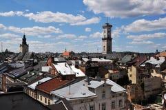 lviv panorama Arkivfoto