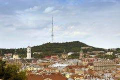 Lviv panorama, Ukraine royalty free stock image