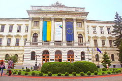 Lviv Polytechnic National Universitys the largest scientific university in Lviv, Ukraine Stock Photography