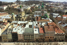 Lviv rooftop Royalty Free Stock Images