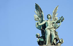Lviv.Sculpture The Genius of Music Royalty Free Stock Photography