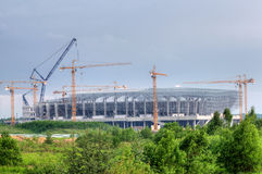 Lviv stadium construction, Ukraine Royalty Free Stock Images
