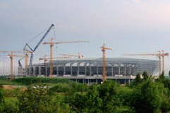 Lviv stadium construction, Ukraine Royalty Free Stock Image