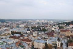 Lviv stadshus Arkivbild