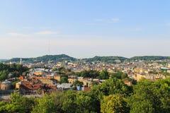 Lviv stadspanorama Royaltyfri Foto