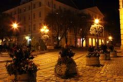 Lviv-Stadt bis zum Nacht Stockfotos