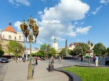 Lviv-Stadtszene (Ukraine). 10. MAI 2012 Lizenzfreies Stockbild