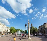Lviv-Stadtszene (Ukraine). 10. MAI 2012 Stockbild