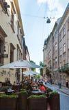 Lviv-Stadtszene (Ukraine). 10. MAI 2012 Stockfotografie