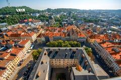 Lviv stary miasto w Ukraina fotografia royalty free