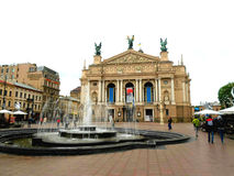 Lviv State Academic Theatre of Opera and Ballet Royalty Free Stock Photos