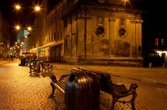 Lviv street at night Stock Images