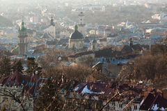 Lviv in sunny haze Royalty Free Stock Photography