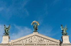 Lviv theatre of opera and ballet exterior. Royalty Free Stock Photos