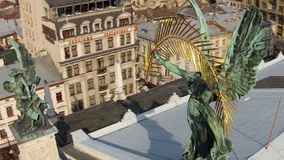 The Lviv Theatre of Opera and Ballet stock footage