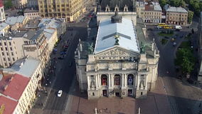 The Lviv Theatre of Opera and Ballet stock video