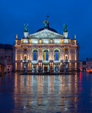 Lviv Theatre of Opera and Ballet Royalty Free Stock Image