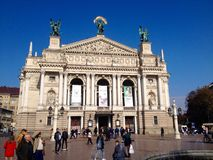 Lviv Theatre of Opera and Ballet Royalty Free Stock Photo