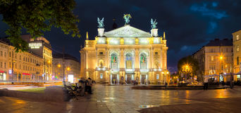 Lviv Theatre of Opera and Ballet Stock Image