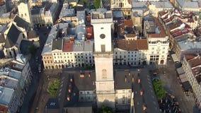 Lviv Town Hall stock footage