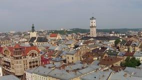 Lviv Town Hall stock video