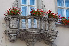 Lviv, two windows Royalty Free Stock Photography