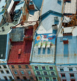 LVIV/UCRÂNIA - 6 DE MAIO DE 2012: Vista superior da câmara municipal de Lviv Imagens de Stock