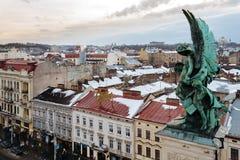 Lviv, Ucrânia - em fevereiro de 2014 - Fotografia de Stock Royalty Free