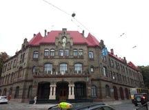 Lviv, Ucrânia, Europa, arquitetura, cidade do leão, construções velhas, fotografia de stock
