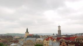 Lviv Ucraina Nuvole di lasso di tempo video d archivio