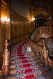 LVIV, UCRANIA - 8 DE ENERO DE 2016: Casa de científicos - un casino nacional anterior construido hasta el 1939 por Fellner y Helm Imagen de archivo libre de regalías