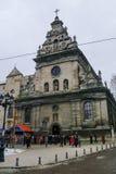 Lviv, Ucrania - 8 de enero de 2011: La iglesia de St Andrew (Berna Foto de archivo