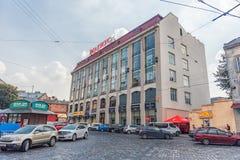 LVIV, UCRANIA - 9 DE SEPTIEMBRE DE 2016: Ciudad de Lviv en Ucrania Paisaje urbano Foto de archivo