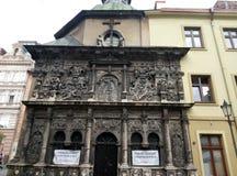 Lviv, Ucrania, Europa, arquitectura, ciudad del león, edificios viejos, fotografía de archivo