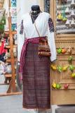 Lviv, Ucrania - Jule 06 2013: Vestido ucraniano típico Imagen de archivo libre de regalías