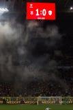LVIV, UCRANIA - NOWEMBER 14: Fans de los terroristas Fotos de archivo