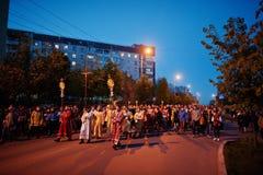 LVIV UKRAINA - APRIL 27, 2016: Passion för helig vecka och död av J fotografering för bildbyråer
