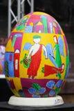 LVIV UKRAINA, Kwiecień, - 04: Duzi sfałszowani Wielkanocni jajka przy festiwalem o Obrazy Royalty Free