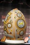 LVIV UKRAINA, Maj, - 02: Duzi sfałszowani Wielkanocni jajka przy festiwalem Zdjęcie Royalty Free