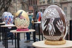Lviv Ukraina, Marzec, - 29, 2018 Wielkanocny festiwal w Lviv Obraz Stock