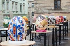 Lviv Ukraina, Marzec, - 29, 2018 Wielkanocny festiwal w Lviv Zdjęcie Stock